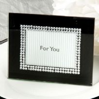 Bling Collection Black Photo Frame / Place Card Holder